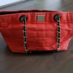 Kate Spade quilted canvas tote